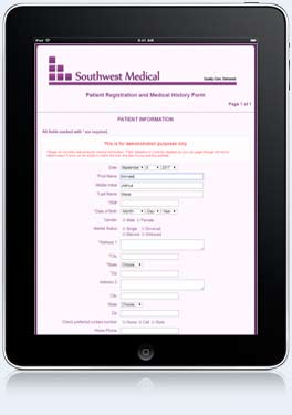 Online registration form example